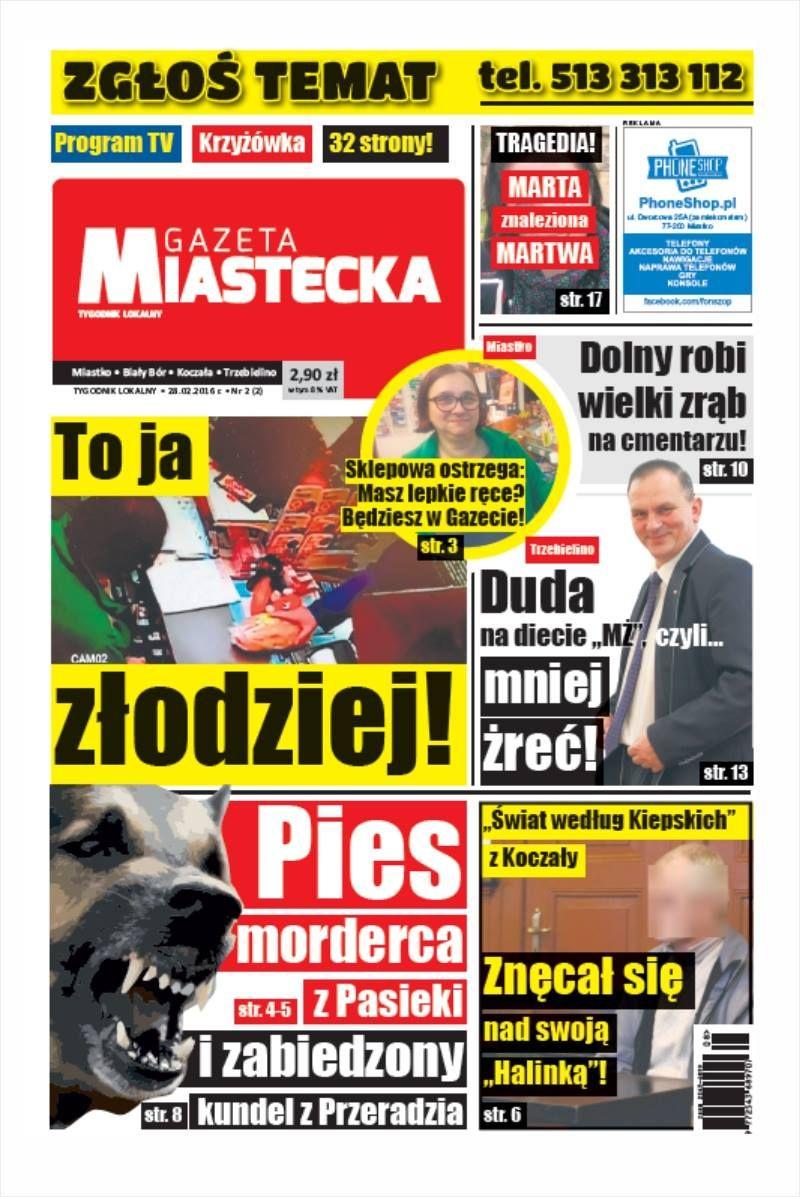 Gazeta Miastecka nr 2 jedynka
